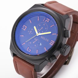 Wholesale Men s retro large dial quartz watch sound insulation MM Stained glass mirror