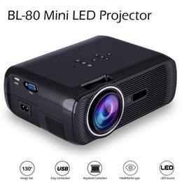 Date BL-80 Mini Projecteur LED Portable 1000 Lumens TFT LCD Full HD AV USB SD VGA HDMI pour les jeux vidéo TV Home Cinéma Proyector Beamer à partir de nouveaux jeux vidéo fabricateur