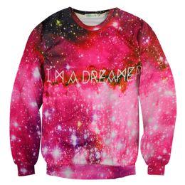Hot Sale New Arrive Fashion Women men 3D Blue Stars Sky And Red Stars Sky Pattern Autumn winter Pullover Sweatshirts hoodies
