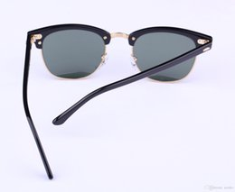 Wholesale Best Quality Glass Polarized Sunglasses Master Men Sun Glasses Women Semi Rimless Retro UV Protection Pop Sunglass mm mm