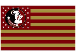 Wholesale Florida State Seminoles flag ftx5ft Banner D Polyester Flag metal Grommets
