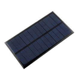 Модуль панели поликристаллического солнечной энергии DIY 110x60 6V 150MA 1W для мобильного банка мощность батареи сотового телефона Игрушки Зарядные устройства Портативный от Производители клетки солнечной панели