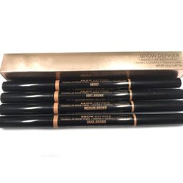 Wholesale ABH Brow Definer Gold Black Package Brow Pencil Crayon A Sourcils Fin Auburn Dark Brown Chocolate Ebony Soft Brown Granite Medium Brown