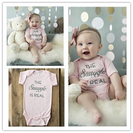2016 Summer New Baby Girl Romper Infant Baby Letters Printed Rompers Toddler Short Sleeve Jumpsuit Newborn Babies Onesies One-Piece 4pcs lot