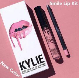 Wholesale 28 Colors New Kylie Jenner Lip Kit Gloss Lipstick Lipliner Velvet Boxset Matte Lipstick Waterproof Makeup Beauty SMLIE SPICE PUMPKIN TRICK