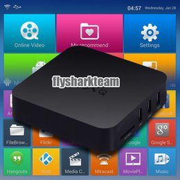 Wholesale Original MXQ TV BOX Kodi Full Loaded Amlogic S805 Andoid BOX Quad Core Andorid Airplay TV Channels Program XBMC OTT Google TV Box