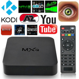 Wholesale Android MXQ TV Box Quad Core G Amlogic S805 K Smart TV Box XBMC KODI16 Full Loading WIFI suport D