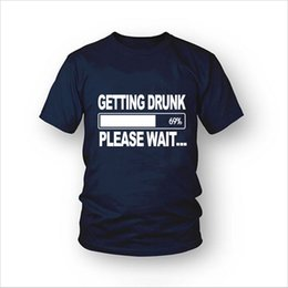 Wholesale Getting Drunk Beer Stag Party Gift Funny Mens T Shirt More Size and Colors