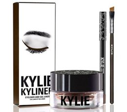 Wholesale Buy Cheap Price Kylie Kyliner Eyeliner and Gel Liner Cosmetics By Kylie Jenner Kyliner Black Brown color Brush and Cream
