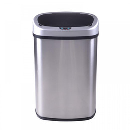 Wholesale New Touch Free Sensor Automatic Stainless Steel Trash Can Kitchen R