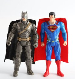 Wholesale 6 inch Batman VS Superman LED Action Figures dolls toy children With cm flash light Dawn of Justice minifigures PVC toys B001