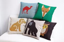 Diamond Version Concise Camel Fox Owl Gorilla Popular Pillow Case Vintage Euro Massager Decorative Pillows Propitious Gift