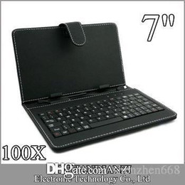 100X OEM Leather Case with Micro USB Interface Keyboard for 7 inch MID Tablet PC A-JP