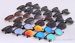 Wholesale Las gafas de sol auténticas de mujeres de calidad superior forman el vidrio de Sun UV400 de la manera protegen las gafas de sol de la marca de fábrica de m m Gafas de sol del diseñador