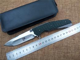 Wholesale Kevin John Venom tactical folding knife HRC D2 Blade G10 handle outdoor utility camping survival knife bearing knife