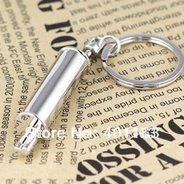 Wholesale nterior Accessories Key Rings Muffler Keychain Creative Accessories Auto Part Automotive Model Exhaust Pipe Tail Pipe Keyring key Chain R