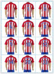 Wholesale Fast Uniforms Kit Soccer Jersey Atletico Madrid Oliver Koke Griezmann Saul Gabi Home White Red Stripe Jerseys