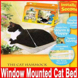 Wholesale Window Mount Cat Bed Pet Supplies Resting Seat Space Saving Pet Hammock Sunny Seat Washable Cover Bed