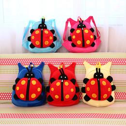 Wholesale 2016 Kids Backpack Schoolbag Childrens Ladybird Backpacks Animal Back Pack Book Bag School rolling Backpack Leisure satchel bag