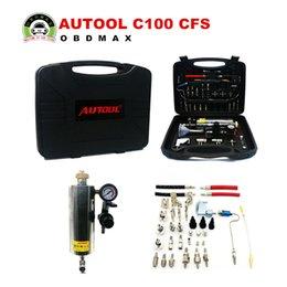 Wholesale AUTOOL C100 CFS Automotive Non Dismantle Fuel System Injector Cleaner for Petrol EFI Throttle DHL