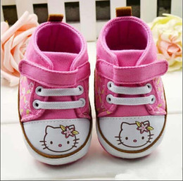 Baby first walkers shoes baby sport shoes cotton shoes cartoon kitty cat shoes color pink size 11-13cm 2016 kids shoes children shoes.865