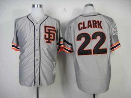 2017 maillots de sport # 22 Giants Will Clark gris maillots de base-ball moins cher Cool Base Authentique Baseball Uniform hommes Sport Chemises Discount Baseball Wear à vendre promotion maillots de sport