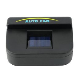 Wholesale New Solar Power Car Window Fan Auto Ventilator Cooler Air Vehicle Radiator vent With Rubber Stripping hot selling
