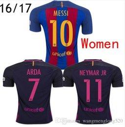 Wholesale primary home away new season for Barcelona Women Thai Quality Soccer Jerseys Football shirts