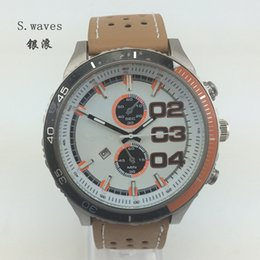 Wholesale S waves American Men s Quartz Watches Date Leather Band Wristwatches Casual Fashion DZ Army Table Hour Clock Dial Masculino Relogio Reloj