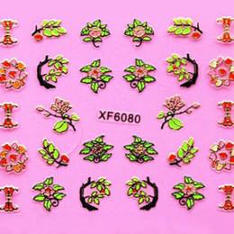 3D Nail Art Sticker 24 Designs Flower+Gold Line Series Nail Decorations New Designs 3d Nail Art Stickers