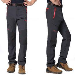 Wholesale XL Mens Winter Fleece Windproof Pants Outdoor Sports Pants Climbing Hiking Camping Trekking Ski Hunting Male Trousers VA015