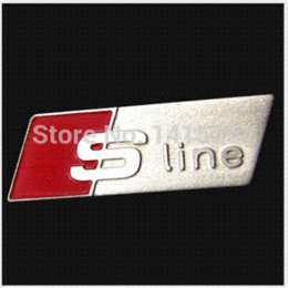 Wholesale HOT For Audi A3 A4 A5 A6 Q3 Q5 Q7 TT RS SLINE styling car interior accessories steering wheel protection decorative stickers
