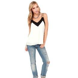 Wholesale Summer Style Sexy Women Sleeveless Vest Casual Loose Chiffon V Neck Tank Tops Amazing Apr