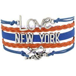 Custom-Infinity Love National Hockey League New York Islanders Bracelet Ice Hockey Player Fans Adjustable Bracelet Bangles-Drop Shipping