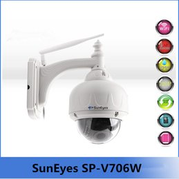Wholesale Suneyes Wifi Wireless - SunEyes SP-V706W 720P 1.0 MegaPixel HD PTZ IP Camera Wifi Wireless with Pan Tilt Zoom Outdoor Dome IP Network CCTV Camera