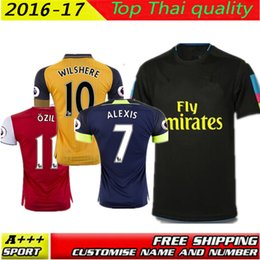 Wholesale Top Quality Arsenals Away home RD goalkeeper Jersey WILSHERE OZIL WALCOTT RAMSEY ALEXIS shirt