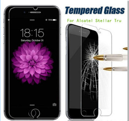 Wholesale For Alcatel Stellar Tru metropcs For HTC desire For ZTE Prestige N9132 Z828 avid plus Tempered Glass Screen Protector Film