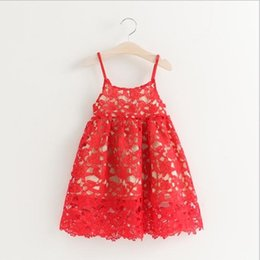 Girls Princess Dress for Kids Clothes 2016 Summer Embroidery Lace Tutu Dress Korean Fashion Cotton Flowers Girls Party Dress