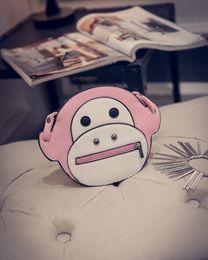 Wholesale New Arrival Korean Women PU Simple Cartoon Cute Shoulder Bag Lovely Monkey Fashion Leisure Cross Body Package