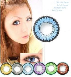 Wholesale Spring Color Series Big Eye Contacts Colorful Contact Lenses Cosmetic Colored Eyes Colors Red Wine Green Brown Gray Blue Purple