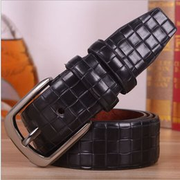 Wholesale Real Pictures New Unisex Fashion Design Belts for Men Leather Strap Male Luxury Pin Buckle Cintos Masculinos