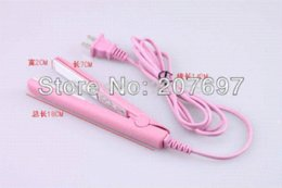 Wholesale 2014 New Mini Pink Electronic hair straighteners V Straightening corrugated Curling Iron In