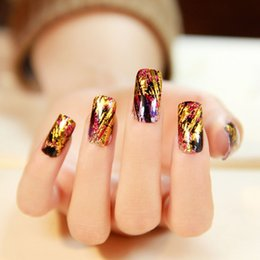 Fantasy Fake Nails Art Decoration mixed colors 10Pcs Lot Special Design finger nail stickers full cover manicure fake nail stickers decals d