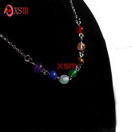 10pc 7 Stone Chakras Reiki Pendant Necklace Charms Healing Chakra Fashion Jewelry For Women Free Shipping