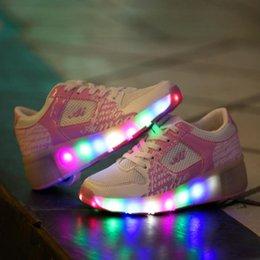 New Child Heelys Jazzy Junior Girls Boys LED Light Heelys Roller Skate Shoes For Children Kids Sneakers With Wheels pink online