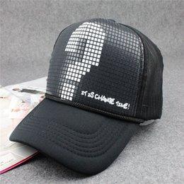 Wholesale 2016 fashion Unisex Classic Trucker Baseball Golf Mesh Cap Hat vintage question mark women men hip hop baseball cap
