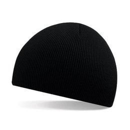 Wholesale Short Hat Army Caps - New Classics Pure Color Beanie Hat Striola Short Size Warmer Skee Hat Headgear Caps Outdoor Fashion Accessories