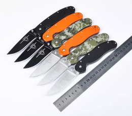 Promotion!!High quality Folding knife Ontario RAT Model 1 outdoor tactical knife AUS-8 blade G10 Handle survival Knives 10 color