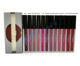 Wholesale Hot Huda beauty Matte Lipstick Lip Gloss colors Transparent box High quality DHL Gift