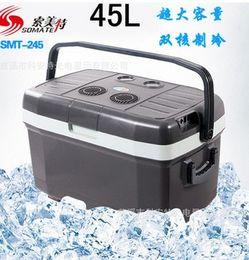 Wholesale 45L ultra large car refrigerator portable outdoor double refrigeration refrigerator medicine heating